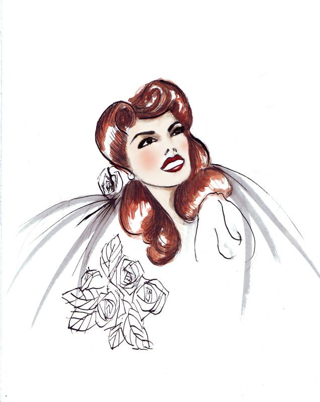 SGR Vintage 1940s Hair & Makeup Design