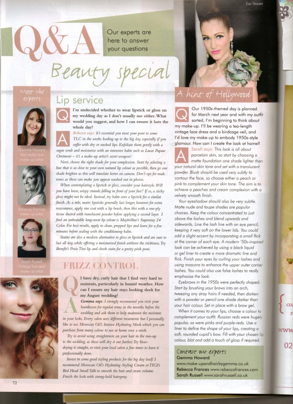 Your West Midlands Wedding Magazine Beauty Advice Q&A