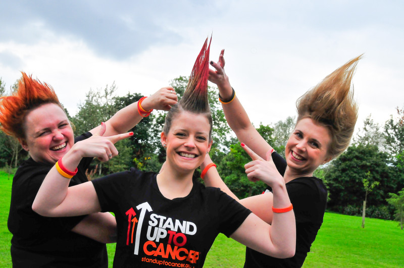 Stand UP to Cancer Campaign. Photograph by Elizabeth Melvin