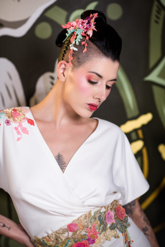 photo by Rebecca Knowles Photography - Japanese inspired bridal makeup birmingham digbeth